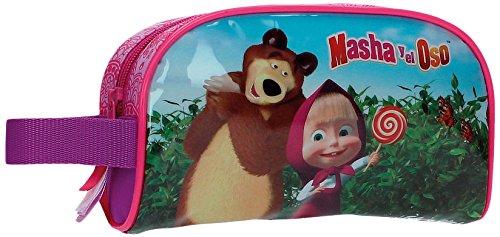 Masha e Orso in The Wood 4734151 Borsa da Viaggio Adattabile al Trolley, 1.42 litri, Poliestere, Rosa