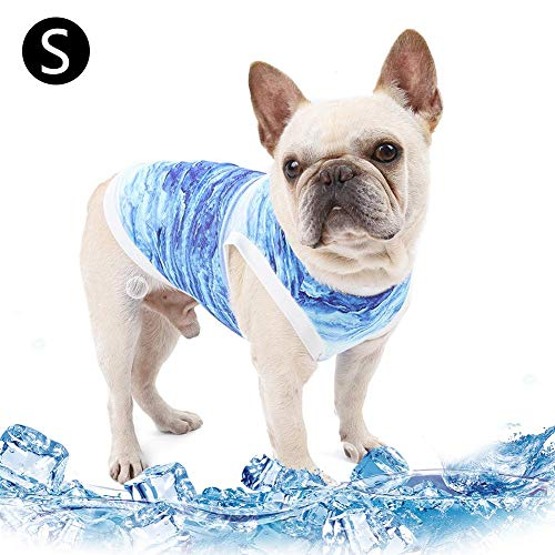 Weelmusic Dog Cooling Vest, Pet Cooling Vest, Dog Cooling Harness, Outdoor Puppy Cooler Jacket Reflective Safety Sun-Proof Pet Hunting Coat, Best for Puppy Dog Cats Kittens (XS, S, M, Blue)