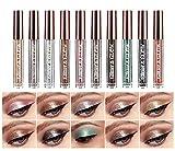 Sumeitang Liquid Glitter Eyeshadow Set 10 Colors Shimmer Diamond Naked Smokey Eye Looks Quick-Drying Waterproof Long-Lasting Sparkling Eye Shadow Makeup Kits
