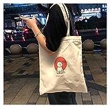 Bolsas de lona Bolsa de compradores Bolsas de lona para mujeres 2021 Bolsa de hombro femenino Muchachas Bolsos Monederos al por mayor Reutilizables Mujeres Shopping Totes Bags ( Farbe : Yizhimaomi )