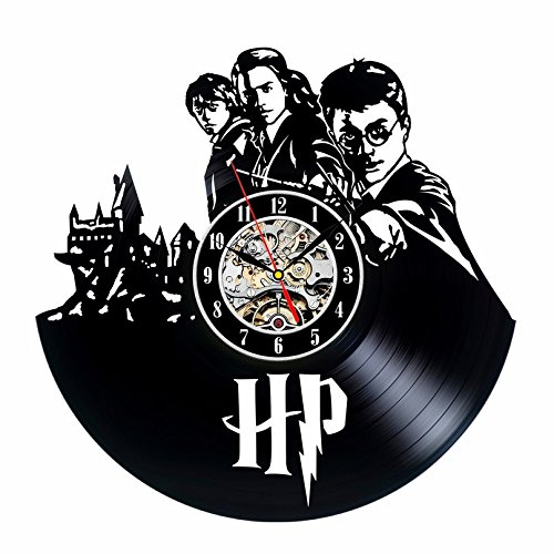 Harry Potter inspirado vinilo pared reloj de regalo