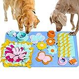 Urslif Tappetino per alimentazione da fiuto per cani,tappetino per attività per animali domestici con naso da addestramento per cani per abilità di foraggiamento,rilascio dello stress(29,5in * 17,7in)