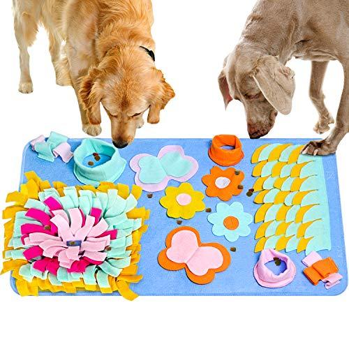 JOLVVN Hunde Spielzeug Schnüffelteppich Hundespielzeug Fütterungsmatte, Riechen Trainieren Trainingsmatte Snuffle Mat für Haustier Hunde Katzen