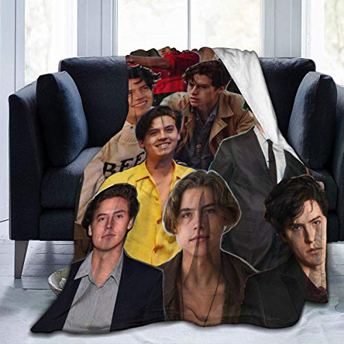 Yaxinduobao Throw Blanket Cole Sprouse Comfort Flannel Fleece Blanket for Camping 80'x60'