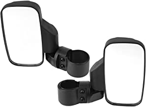 SPAUTO UTV Side Mirror Set 1.75 & 2inch Roll Bar Cage, Universal UTV Side View Mirrors High Impact Shatter-Proof Tempered Glass