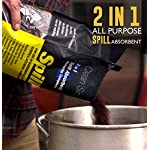 SPILLFIX - 2 in 1 Spill Absorbent & Sweeping Compound 9 Liter Bag - Safe, 100% Organic, Easy to Use Universal Absorbent for Hazardous and Non-Hazardous Spill Cleanups Pouring Out