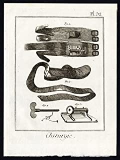 ThePrintsCollector Antique Motif-- chirurgicale Tendon d'Achille-Genouillère - 32–Pl. Diderot Alembert - 1777