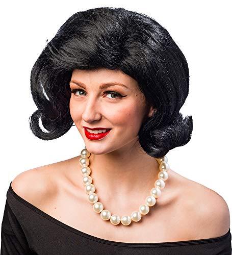 Das Kostümland Orlob Damen Perücke 50er Jahre Außenrolle Karneval Fasching schwarz