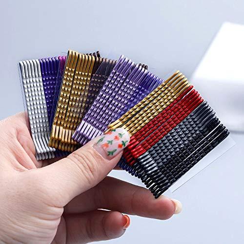 Épingle à cheveux 24 Pcs 5 Cm Multicolore Cheveux Clips Ondulés Mode Épingles À Cheveux En Métal Barrettes Invisible Vague Hairgrip Cheveux Clips Accessoires Livraison Aléatoire