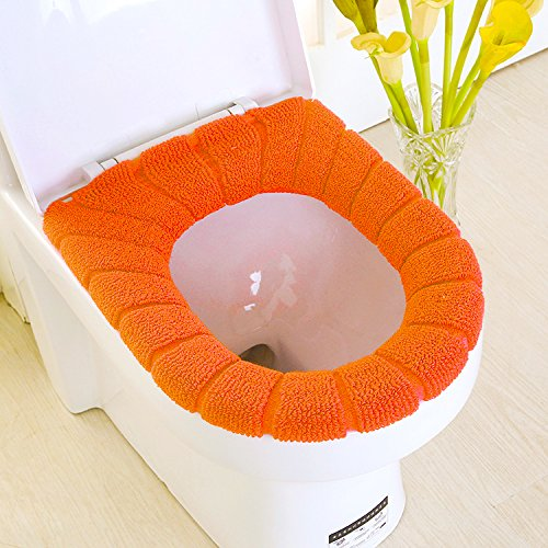 Vanki Soft And Warm Toilet Seat Cover Orange 1pcs