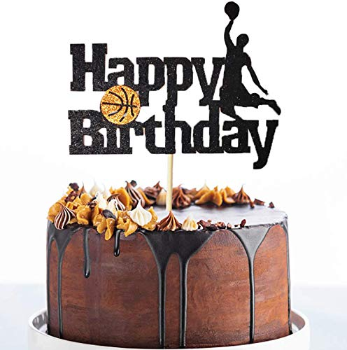 Basketball Action Cake/Cupcake Toppers - Basketball/Sport Birthday Party Decorations Supplies Favors Cake Decor