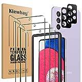 Kiewhay Protector de Pantalla para Samsung Galaxy A52s 5G/ A52 5G/ A52 4G Cristal Templado 6,5'', 3x Vidrio Templado +2x Protector de Lente de Cámara, [Dureza 9H] HD Protector Pantalla - 5 Piezas