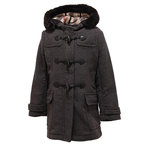 1566T cappotto montgomery bimba grigio BURBERRY lana jacket coat kid [8 YEARS]