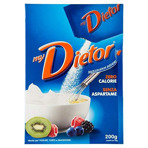 Dietor - Mydietor Dolcificante Naturale Sfuso 0 Kcal, Senza Glutine, Senza Aspartame - 200 Gr