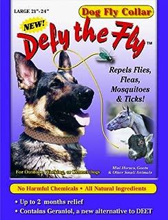 R & R ENTERPRISES Defy The Fly Dog Fly Collar - Large 21