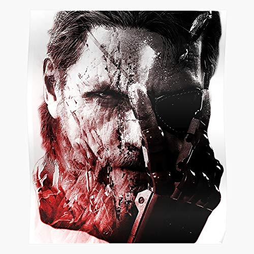 V Solid 5 Ground Zeroes Metal Zero Gear Regalo para la decoración del hogar Wall Art Print Poster 11.7 x 16.5 inch
