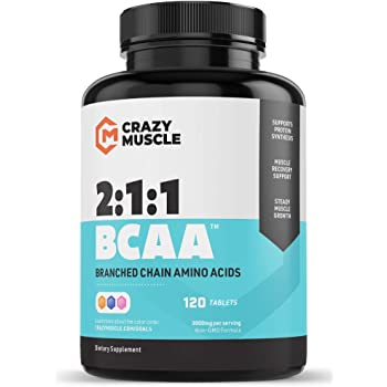Keto Friendly BCAA Capsules (1000mg) Pre and Post Workout Supplement with Essential Branched Chain Amino Acids, Improve Muscle Recovery, Boost Energy (120 Pills)