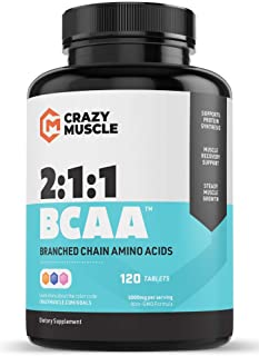 Keto Friendly BCAA Capsules (1000mg) Pre and Post Workout Supplement with Essential Branched Chain Amino Acids, Improve Mu...