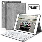 iPad Keyboard Case 9.7 for iPad 2018 6th Gen iPad 2017 5th Gen iPad Pro 9.7 iPad Air 2 Air 1 iPad Case with Detachable Bluetooth Keyboard
