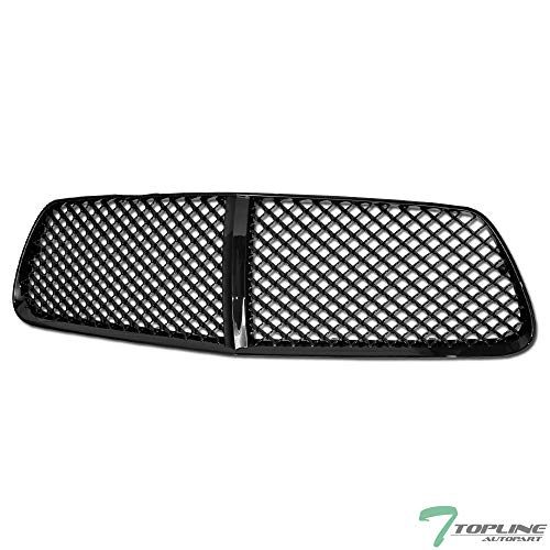 Topline Autopart Black Mesh Front Hood Bumper Grill Grille ABS For 2011-2014 Dodge Charger LD