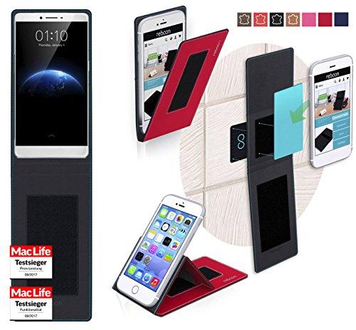 Hülle für Oppo R7 Plus Tasche Cover Hülle Bumper | Rot | Testsieger