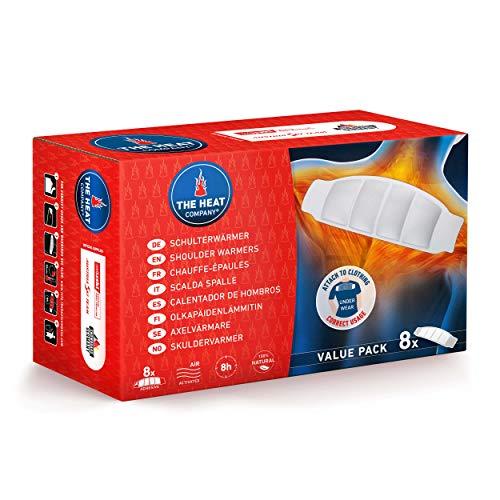 THE HEAT COMPANY Scalda Spalle - EXTRA CALDO - adesivo - Scaldacollo - 8 ore di piacevole calore - pronti all'uso - autoriscaldante - puro naturale - 8 pezzi
