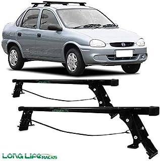 Rack Long Life Em Aço Para Carros Sem Calha Corsa Hatch E Sedan – 4 Portas (Sem Abertura No Friso - Até 2003 E Classic)
