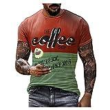 XUEbing Camiseta básica para hombre de la calle de la vendimia de la camiseta básica de cuello redondo para hombre al aire libre entrenamiento Tops blusa, Multicolor, M
