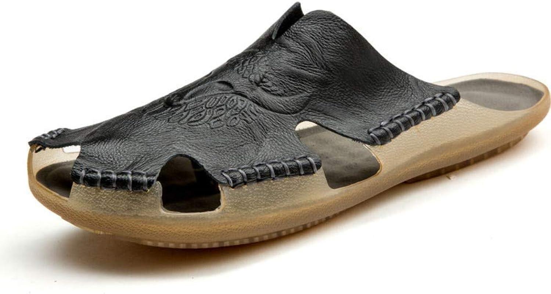 Men's shoes Outdoor Sports Men's Leather Beach shoes Casual Sandals Men Men's shoes (color   47)