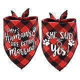 ASOCEA Halstuch für Hunde, zur Verlobung und Ankündigung, für Haustiere, kariert, Hochzeits-Schal, Zubehör, Welpen, Kätzchen, Dreieckstuch, für kleine, mittelgroße und große Hunde und Katzen