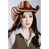 ZXVSD TPE Dolls for Men Full Size, muñeca Inflable asiática con tamaño de Copa C y generador de Sonido, 160 cm de Altura y fácil de Limpiar y almacenar.