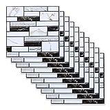 Fulllove - Juego de 10 adhesivos de azulejos (30 x 30 cm), láminas para baño y cocina