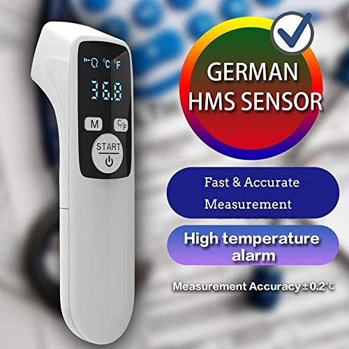Front-Thermometer, digitales Front-Thermometer und Kopfhörer, tragbares Infrarot-Thermometer, Standard-Thermometer ohne Kontakt