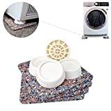 Antivibrationsmatte für Waschmaschine oder Trockner, Antirutschmatte und Vibrationsdämpfer 4er Set - 8
