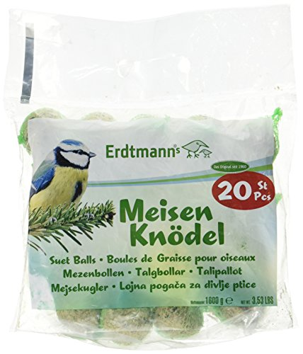 Erdtmanns 20 Meisenknödel im Polybeutel, 1er Pack (1 x 1.6 kg)