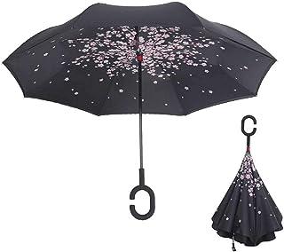 Noir REFURBISHHOUSE Parapluie De Journal Noir et Blanc De Vent Britannique Parapluie Automatique De Mode Pliant Parasol Anti-UV Soleil//Pluie