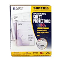 C-Line Products- Inc. CLI61013 Sheet Protector- Vinyl- Super-Heavyweight- Clear