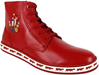 Men's Alpistar Nappa Leather Animal Collection Hi-Top Sneakers Corvette Red 78502