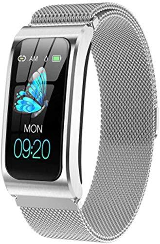 SHIJIAN Pulsera inteligente de moda con pantalla a color. Reloj impermeable Podómetro Monitor de actividad Correa deportiva Regalos para hombres y mujeres-H