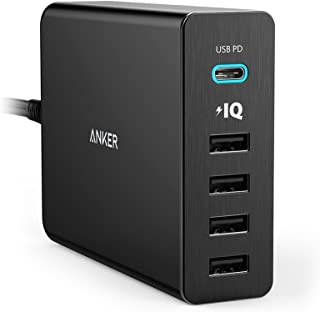 Anker PowerPort+ 5 USB-C Power Delivery (60W 5ポート USB-A & USB-C 急速充電器)【PSE認証済/PowerIQ搭載/PD対応】 MacBook/iPhone/iPad/Android 各種他対応 (ブラック)