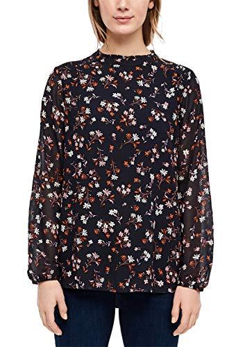 s.Oliver Damen 14.001.11.2755 Bluse, Marine floral AOP, (Herstellergröße: 44)