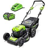 Greenworks Tondeuse tractée 40V - Coupe de 46cm - 1 Batterie 4,0Ah - 1 Chargeur - GD40LM46SPK4x
