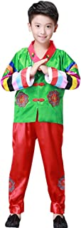 Korean Traditional Clothes Set - Boys Colourful Long Sleeve Hanbok Set