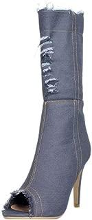 RAZAMAZA Women Fashion High Heels Mid Boots