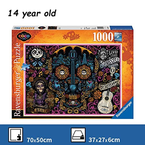 WUJINJ Goede kwaliteit Coco Puzzel 1000 Tablets Grote monteren van speelgoed for volwassenen Decompression puzzel assembleren Brain Toys Children's Puzzle rond Brain Game