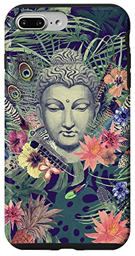 iPhone 7 Plus/8 Plus Buddha And Tropical Flower Phone Case