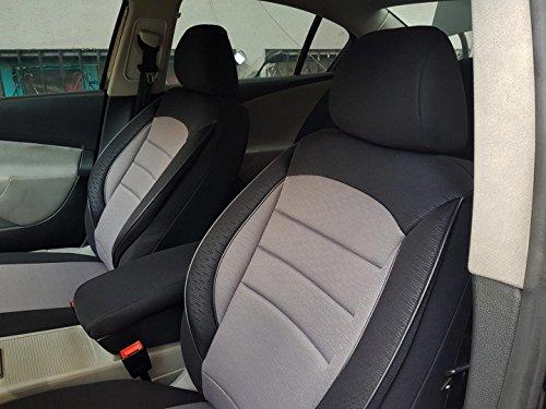 Sitzbezüge k-maniac für Audi A6 C4 Avant | Universal schwarz-grau | Autositzbezüge Set Vordersitze | Autozubehör Innenraum | V730346 | Kfz Tuning | Sitzbezug | Sitzschoner