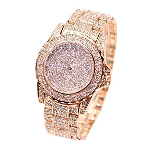 Bokeley Women's Watch, 2019 Fashion Simple Mens Watch Quartz Analog Business Casual Wristwatch (Rose Gold)
