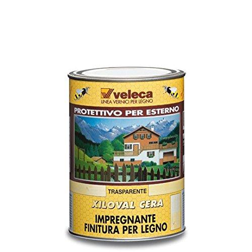 Veleca XILOVAL CERA Trasparente - ml. 500 - IMPREGNANTE PROTETTIVO SATINATO PER LEGNO DA ESTERNO