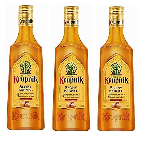 3 Flaschen Krupnik Slony Karmel Likör aus Polen a 0,5L Alkoholgehalt 16% Vol.